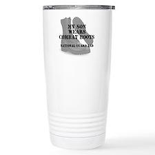 National Guard Dad Son wears CB Travel Mug