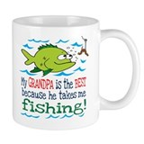 My Grandpa Takes Me Fishing Coffee Mug