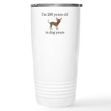 40 birthday dog years chihuahua Thermos Mug