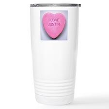 HEART JUSTIN Travel Mug