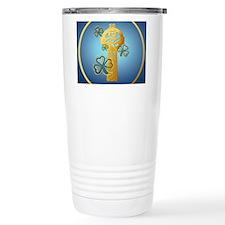 Gold Celtic Cross N Sha Travel Mug