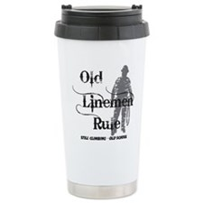 old linemen rule 2 Travel Mug
