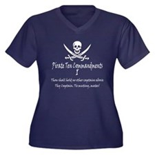 Pirate Commandment I Women's Plus Size V-Neck Dark