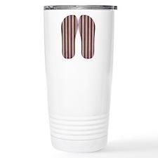 Pink And Brown Stripe Travel Mug