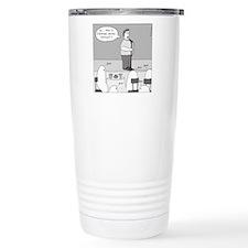 Ghost Comedian - no tex Travel Mug