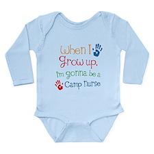 Camp Nurse Grow Up Long Sleeve Infant Bodysuit