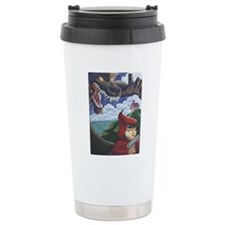 big red frame Travel Mug