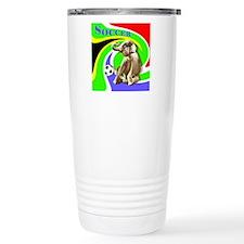 Soccer Elephant Logo Travel Mug