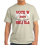 Don't Be A Girlie Man Vote W Ash Grey T-Shirt