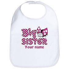 Custom Big Sister Ladybug Bib