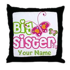 Custom Big Sister paterfly Throw Pillow