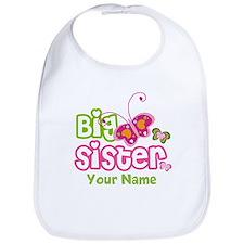 Custom Big Sister paterfly Bib