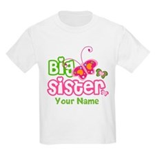 personalized big sister paterfly T-Shirt