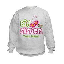 Custom Big Sister paterfly Sweatshirt
