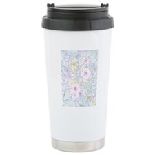 pencil flowers portrait Travel Mug