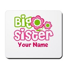 Custom Big Sister Pink Green Mousepad