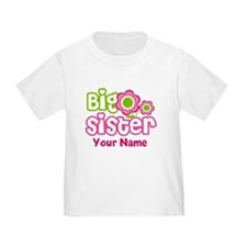 Custom Big Sister Pink Green T