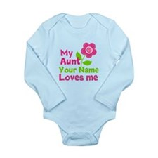my aunt loves me Long Sleeve Infant Bodysuit