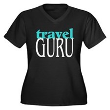 Unique Agent Women's Plus Size V-Neck Dark T-Shirt