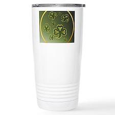circle  Gold-Green Sham Travel Mug