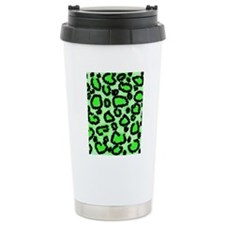 leop-grn-ip Travel Mug