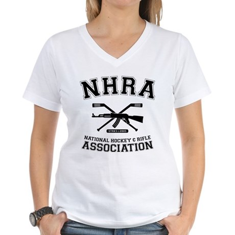 National hockey and rifle assn Women's V-Neck T-Sh