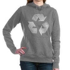 Recycle Symbol Women's Hooded Sweatshirt