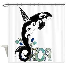 Orca Freedom Shower Curtain