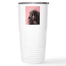 Poodle Dog looking away Travel Mug
