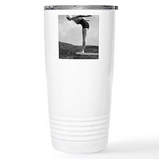 Woman preparing to dive Travel Coffee Mug