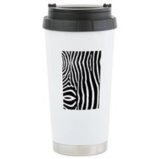 Zebra Pattern Twin Duve Travel Mug