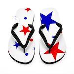 Patriotic Stars Flip Flops