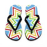 Colorful Star Design Flip Flops