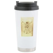 Vitruvian Man with Horn Travel Mug