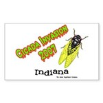 Indiana Cicada Rectangle Sticker