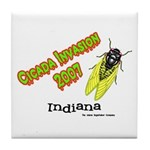 Indiana Cicada Tile Coaster