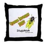 Indiana Cicada Throw Pillow