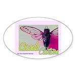 Cicada S Couture Oval Sticker