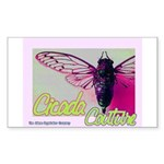 Cicada S Couture Rectangle Sticker