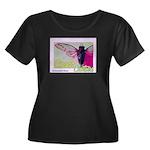 Cicada S Couture Women's Plus Size Scoop Neck Dark