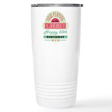 50th Birthday Retro Jukebox Travel Mug