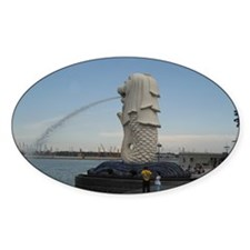The Singapore Merlion (Side) Oval Decal