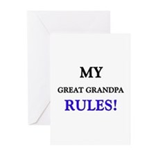 My GREAT GRANDPA Rules! Greeting Cards (Package of