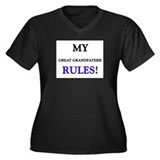 My GREAT GRANDFATHER Rules! Women's Plus Size V-Ne