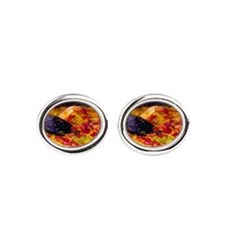 Spain, Andalucia, Nerja. Giant pael Oval Cufflinks