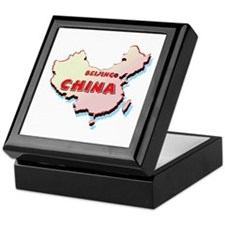 China Map Keepsake Box