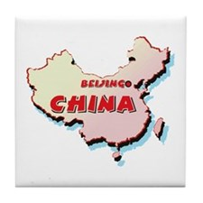 China Map Tile Coaster