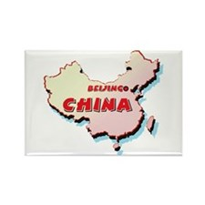 China Map Rectangle Magnet (10 pack)