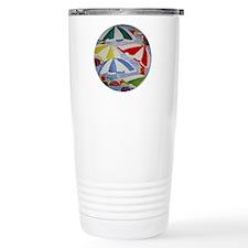 Beach Umbrellas Travel Coffee Mug