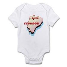 Ecuador Map Infant Bodysuit